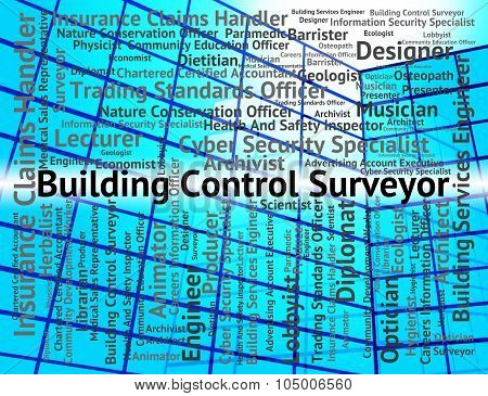 Building Control Surveyor Shows Position Employment And Surveying