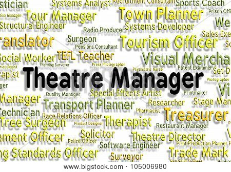 Theatre Manager Shows Stage Work And Chief