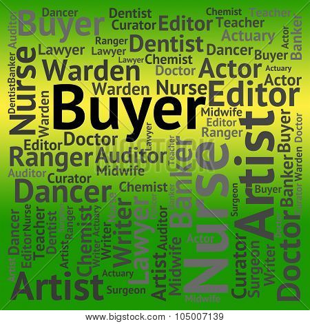 Buyer Job Means Recruitment Purchaser And Jobs