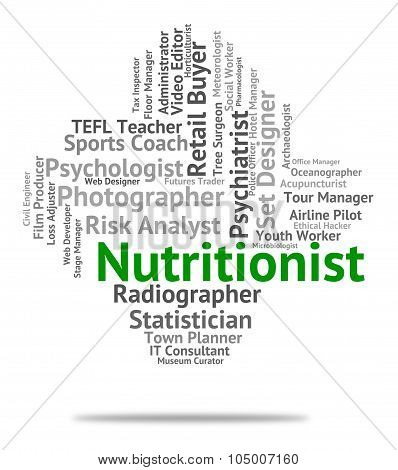 Nutritionist Job Represents Employee Nutrient And Sustenance