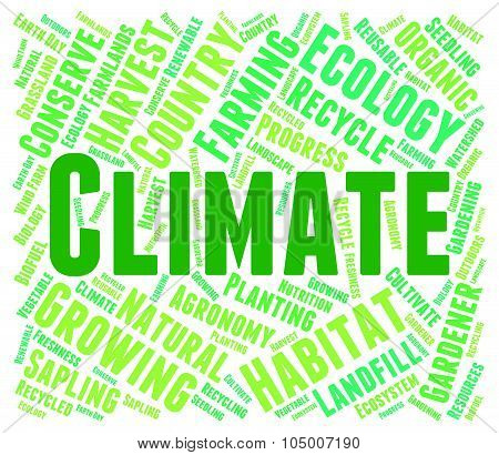 Climate Word Means Weather Patterns And Clime