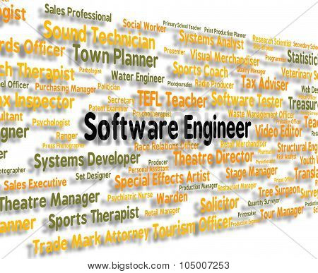 Software Engineer Represents Programs Jobs And Programming