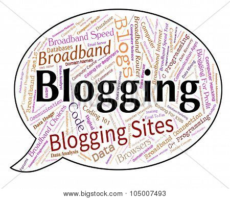 Blogging Word Indicates Site Words And Weblog