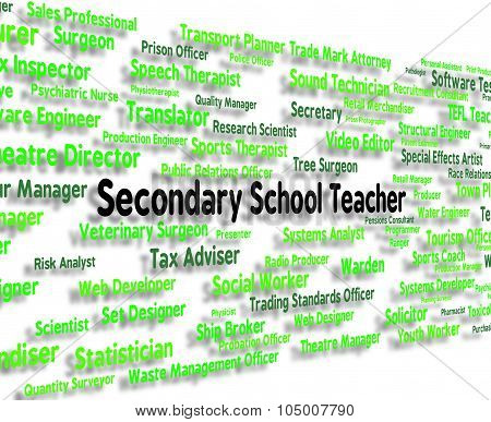 Secondary School Teacher Shows Senior Schools And Career