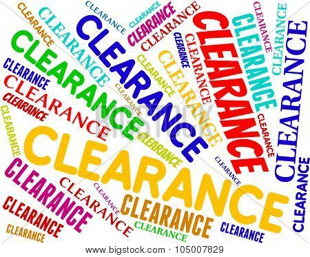 Clearance Word Indicates Promotional Closeout And Offers