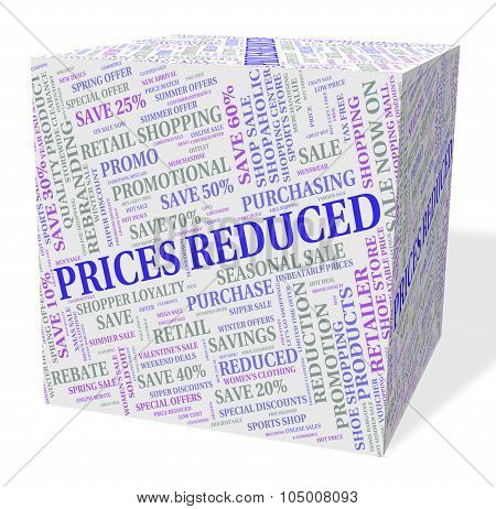 Prices Reduced Indicates Charge Estimate And Reduction