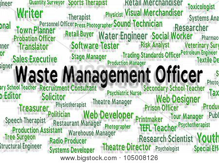 Waste Management Officer Shows Manager Words And Bosses