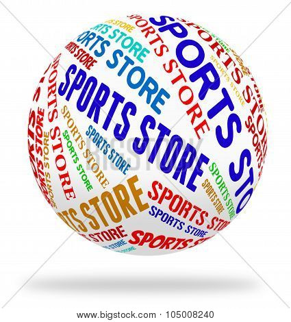 Sports Store Indicates Physical Activity And Buying