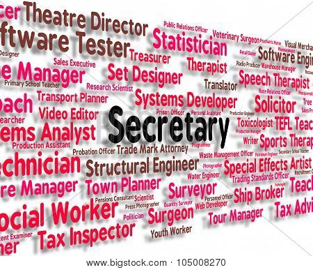 Secretary Job Shows Personal Assistant And Pa
