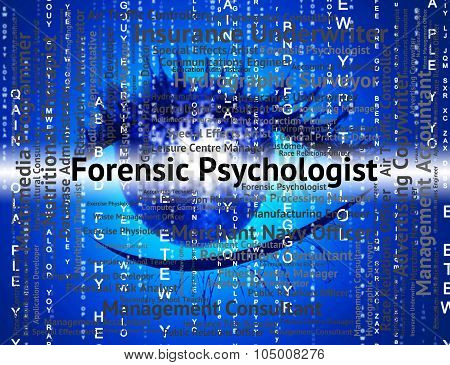 Forensic Psychologist Means Words Psychoanalyst And Text