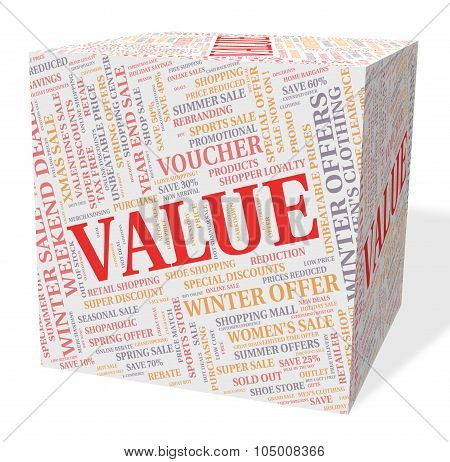 Value Cube Means Quality Control And Approved