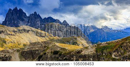 Summit of the Croda dei Toni in the Sesto Dolomites, South Tyrol, Italian Alps