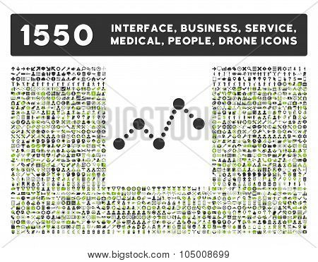 Chart Icon And More Interface, Business, Tools, People, Medical, Awards Flat Glyph Icons