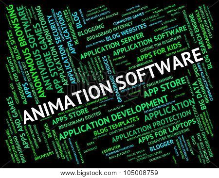 Animation Software Represents Animated Programming And Programs