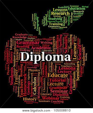 Diploma Word Means Achievement Certificate And Awards
