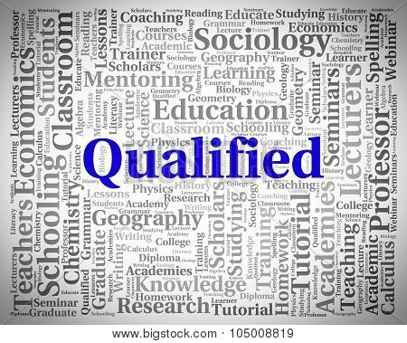 Qualified Word Indicates Certified Chartered And Expert