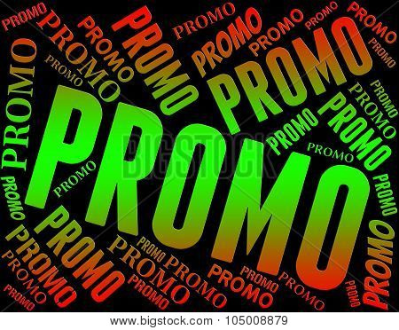 Promo Word Means Cheap Words And Offer