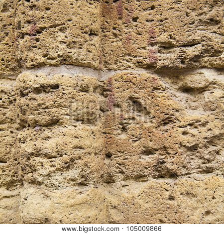 eroded stone wall background