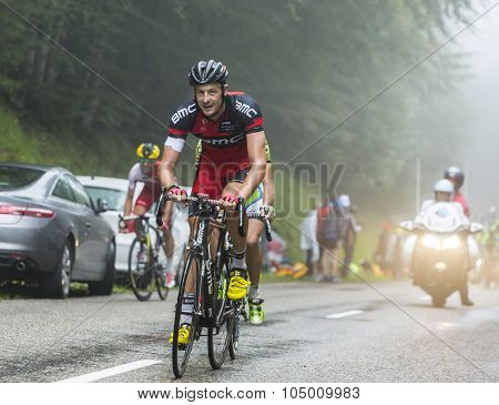 The Cyclist Marcus Burghardt Climbing Col Du Platzerwasel - Tour De France 2014
