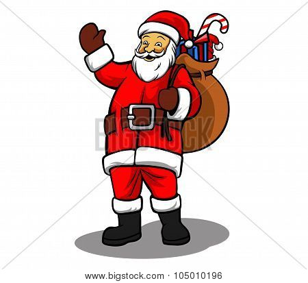Santa And Sack Of Gifts