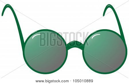 Sunglasses Round Green