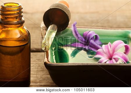 Hyacinth Essential Oil With Dropper And Small Bottle