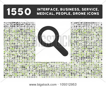 Search Icon And More Interface, Business, Tools, People, Medical, Awards Flat Glyph Icons