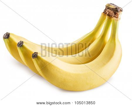 Bananas isolated on a white background. Picture is of high quality. Clipping path.