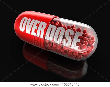 Pill Overdose (clipping path included)