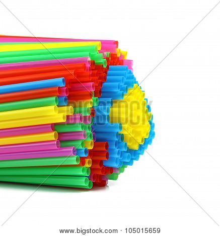 Bunch Of Colorful Plastic Drinking Straws