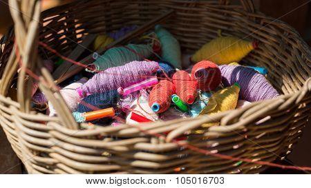 Colorful Thread Balls