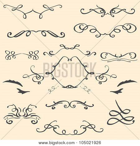 Curlicues vintage ornament vector illustration