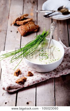 Cauliflower, parsnip, potato, celery soup