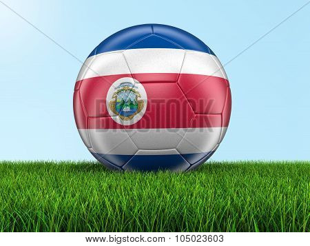 Soccer football with Costa Rican flag