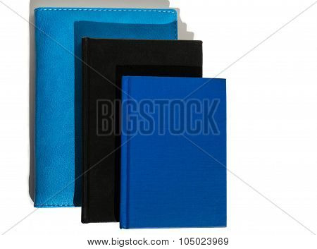three different notebook isolated