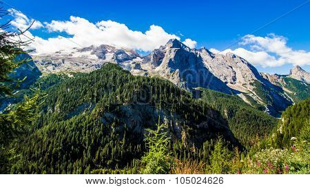 View Of The Massif Of The Marmolada, Italy
