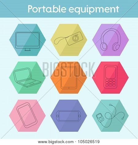 Gadget modern flat icon vector illustration