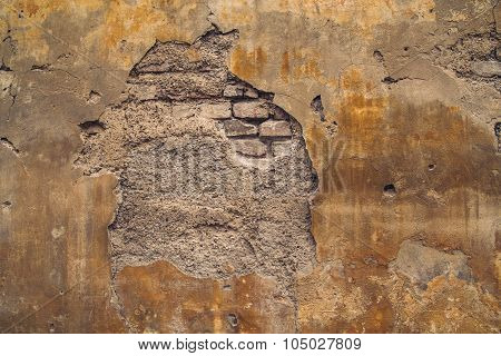Old Crumbling European Wall Background