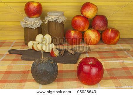 Moldy apple
