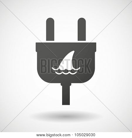 Isolated Plug Icon With A Shark Fin