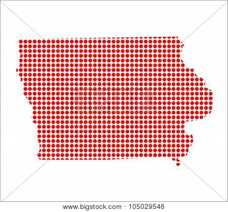 Red Dot Map Of Iowa