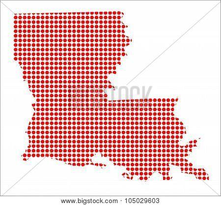 Red Dot Map Of Louisiana