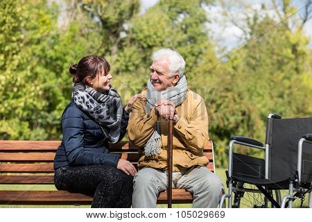 Elder Man And Carer