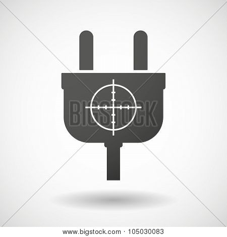 Isolated Plug Icon With A Crosshair