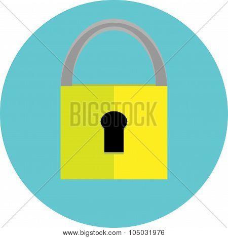 Padlock Icon Label