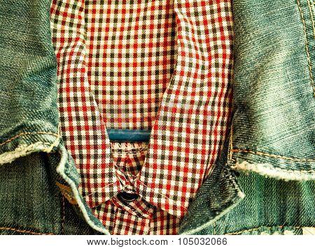 Shirt, Denim Jacket