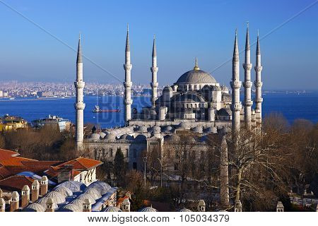 Sultan Ahmed Mosque in Istanbul city