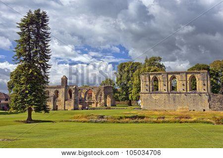 Ruins Of Glastonbury Abbey, Somerset, England