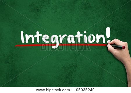 Integration On Chalkboard
