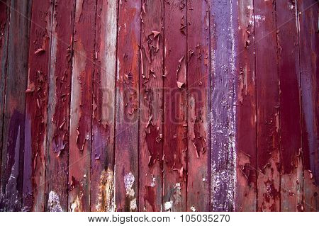 Paint Peels From Wooden Boards